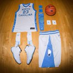 The Tar Heels are wearing 1980s throwback uniforms today with retro Jordan XI's. @jumpman23 #UNCBBall http://t.co/X0JdjbSMak