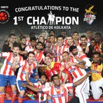 Congratulations @atletidekolkata, you are the #1stChampion of the #HeroISL! #LetsFootball http://t.co/CDf9JU3hTp
