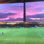 @ChronandEcho sunset at @SaintsRugby vs Leicester this evening down at Franklins Gardens! ???? http://t.co/wuTKrvJUnY