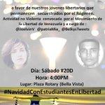#Maracaibo HOY #20D nos unimos en oración por nuestros hermanos retenidos ilegalmente por el régimen. ASISTE! http://t.co/FQBy9aWgQF