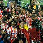 Congratulation to the team, club and ATK fans. We are the 1st winner of the Indian Super League. http://t.co/QSQUnyBulT