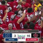 The first win of bowl season belongs to Louisiana-Lafayette!   Ragin' Cajuns defeat Nevada 16-3. http://t.co/ntXtMrfPqJ