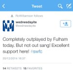 Well I guess thats ok then, if you out sung them????????????????#sufc http://t.co/LyhEFFtWEf