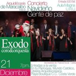 """Mañana se realizará en Maracaibo el concierto navideño """"gente de paz"""" http://t.co/l87x9fyGbJ"""