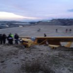 Avioneta del Instituto de Aeronáutica de #Tijuana, aterrizó de emergencia en parque industrial Pacífico @fronterainfo http://t.co/afKOvupsfV
