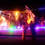 The floats are ready. The crowds are gathered. Its time for the 20th Annual Downtown Parade of Lights! http://t.co/HsDmwJGvXg