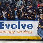 Austin McDonald high fives #Sabres players after dropping the puck. @makeawishwny (@BWipp) #COLvsBUF http://t.co/hlOJD8kDJC
