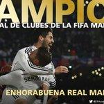 ¡El Real Madrid, campeón del #MundialDeClubes! @realmadrid 2-0 @SanLorenzo Ramos, Bale http://t.co/aq6PAORmuc