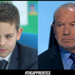 Im a very proud auntie! My nephew Freddie playing @Lord_Sugar on the Mini Apprentice, he was brilliant! ???????? http://t.co/0O78gJq6gA