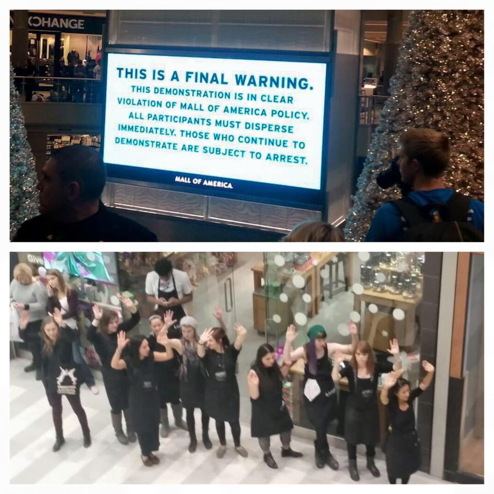 @Glinner clearer view of that sign and a shot of the Lush store staff walking out to join the protest. http://t.co/kDFW33j7o1