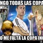 #OJOALDATO | #CristianoRonaldo tiene todas las copas excepto una. #RealMadrid 2 - 0 #SanLorenzo #MundialDeClubes http://t.co/aZSjMJDDxD