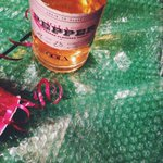 Festive bubble wrap. #redandgreen #vodka #holidayspirits #seattle #oola #bowsandbooze http://t.co/LcevIFHrJ9