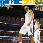 Final: No. 1 Kentucky 83, UCLA 42. The Cats improve to 12-0 with a dominant win in the CBS Sports Classic. http://t.co/vOpYNi3R7w
