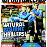 Its the in-form @afcbournemouth who make the front page tomorrow for their 6-1 seaside derby win @BlackpoolFC http://t.co/ev146nthed