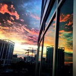 Beautiful sunset as seen from downtown Orlando. #Florida http://t.co/Fbf8fZYMBy