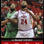 #AStateMB | Infographic of Anthony Livingston of @AStateMB from tonights game vs. Marshall. http://t.co/Ml4X7qRljd