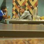 Lobaton y Oblitas en el aeropuerto. Salen a las 8:20 rumbo a Trujillo. @fegusquizap http://t.co/SD4bVY65iK