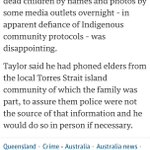 #qldnews Qld Police are disappointed the names of the 8 children in Cairns tragedy have been published by some media. http://t.co/n2HJcZ1nEr