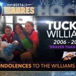 The #Sabres send their condolences to the family of Tucker Williams, son of former @NLLBandits player Shawn Williams. http://t.co/xadVeWhwBb