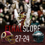 FedExField is a NO FLY ZONE!  The final heave drops, and the #Redskins defeat the Eagles, 27-24!  #HTTR #PHIvsWAS http://t.co/3Xc9S4fNjo