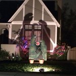 I have no idea what two T-rex sharing a watermelon has to do w/ Christmas, but I fully endorse this display. #Oakland http://t.co/y19IhH6yHd