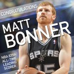 And with that free throw, Matt Bonner makes history! http://t.co/OqX7n8H2bd
