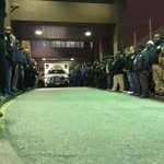 #NYPD lining up outside Woodhull to honor fallen officers. #Brooklyn @news12bk http://t.co/k94EvWWU7P