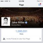 1 MILLION LIKES ???? first time Ive hit 1M on a social media http://t.co/QmWlrjuvbC