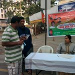 Early morning membership drive in Pune. #JoinBJP @BJP4India @AmitShahOffice @narendramodi http://t.co/SVN4tGZ6dR