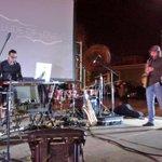 """""""Prelude of love"""" presentación de Eduardo McGregor y Miguel Novelo en la Plaza Juan Carbó #FICH2014 http://t.co/ljP5C1zaav"""