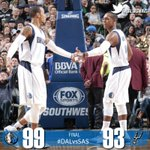 FINAL: MAVS WIN! Mavs defeat Spurs 99-93! Monta Ellis led with 38pts & Rondo finished w/ 6pts/9assts/7rebs. #DALvsSAS http://t.co/08SjyJYAdl