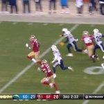 Colin Kaepernick ran 90 yards for a TD vs. SD, the 2nd longest run by a QB in NFL history http://t.co/wW8jcb9X9z http://t.co/nV1N9SYbA6