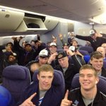 We have some very happy passengers, and @IDPotatoBowl champions, on the return flight to Colorado Springs! http://t.co/ZMWlb1V95a