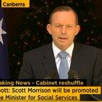 "#auspol @ScottMorrisonMP ""promoted"" to Social Services Minister. http://t.co/7SPQIxx8y3"