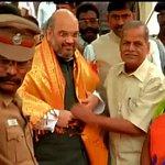 """@drtamilisaibjp ,BJP President @AmitShahOffice arrives at party office in Chennai (Tamil Nadu) http://t.co/uhJDfHKJ7K"""