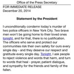 BREAKING: President Obama has released statement regarding the murder of NYPD Officers Wenjian Liu and Rafael Ramos. http://t.co/gcOH1qG0j2