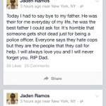 A cops sons sad  goodbye.  Heartbreaking #NYPD #JadenRamos #NYPDLivesMatter http://t.co/XsfxOb5I0o