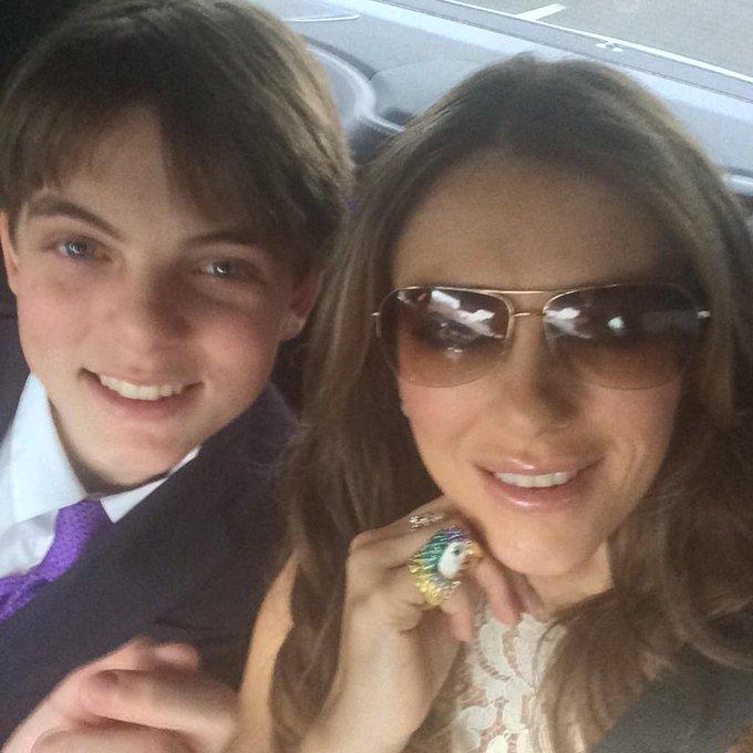 Elizabeth Hurley @elizabethhurley: On our way to Elton and David's wedding. V excited #ShareTheLove ❤️❤️❤️❤️ http://t.co/nZ0vg4L7aS