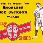 Vintage Shoeless Joe Jackson sneaker ad. @whitesox @modernwest @DwierBrown @SoxNerd @scottmerkin #Chicago #WhiteSox ~ http://t.co/I3AIlafZnc
