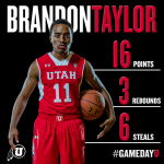 Brandon Taylor played a complete game for the @Runnin_Utes tonight against #UNLV. Check out his stats! #goutes http://t.co/20Ndo8cFaP