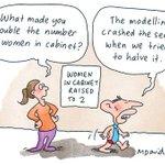 Abbott doubles the number of women in cabinet #auspol http://t.co/t4Z3rQPuCe