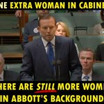 Abbott says Cabinet chosen purely on merit. So in the entire L/NP, there are only two women of merit? Really? #AusPol http://t.co/nOmcemjMX5
