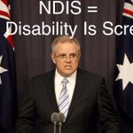 Headed up by Morrison the #NDIS button will now be reset; harshly, thoroughly, and gleefully reset #Auspol http://t.co/5ySQzlfc0r
