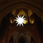 The Great Star at Liverpool Cathedral. Guiding people from Merseyside, Wirral & Worldwide. Holly Bough service at 3. http://t.co/Tzqnwxypnk