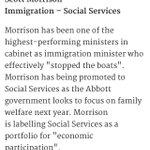 """Morrison is labelling Social Services as portfolio for economic participation "" http://t.co/qxBdapsQks @doc_andy_w http://t.co/4QodYPYGN4"