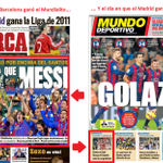 El día en que el Barça ganó el Mundialito... y el día en que lo ganó el Madrid. Portadas de Marca y Mundo Deportivo http://t.co/t0CaGdmzlT