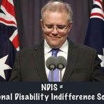 Scott Morrison has hit the #NDIS reset button, & he cant help but release a sly grin at his own brilliance #Auspol http://t.co/y4KL1WYofM