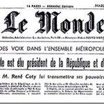 Le 21 décembre 1958, le général de Gaulle est élu premier président de la Ve République http://t.co/cR9Mzvy5Wm