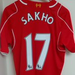 PHOTO: Mamadou Sakhos jersey hangs in the #LFC dressing room ahead of kick off. He starts today http://t.co/nQ7mtIhzDZ
