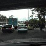 #traficogt totalmente parado en El Periférico, en dirección al Centro Histórico, por tráiler volcado. @prensa_libre http://t.co/Sg6n9MRf8L